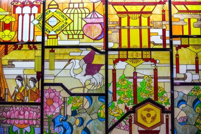 ステンドグラス 日本風