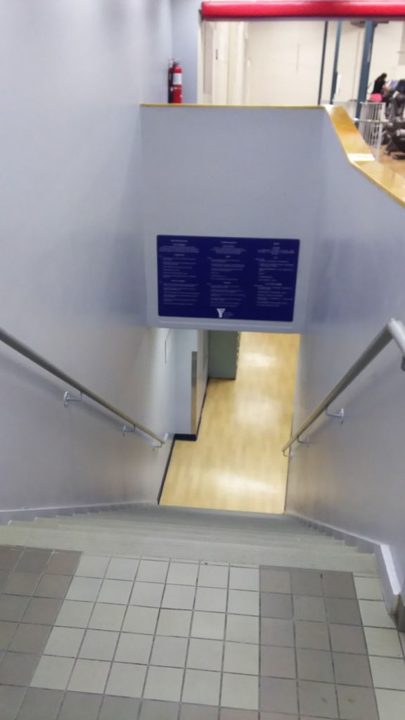 stairs to training room