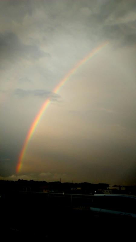 虹、デカイ、すごい