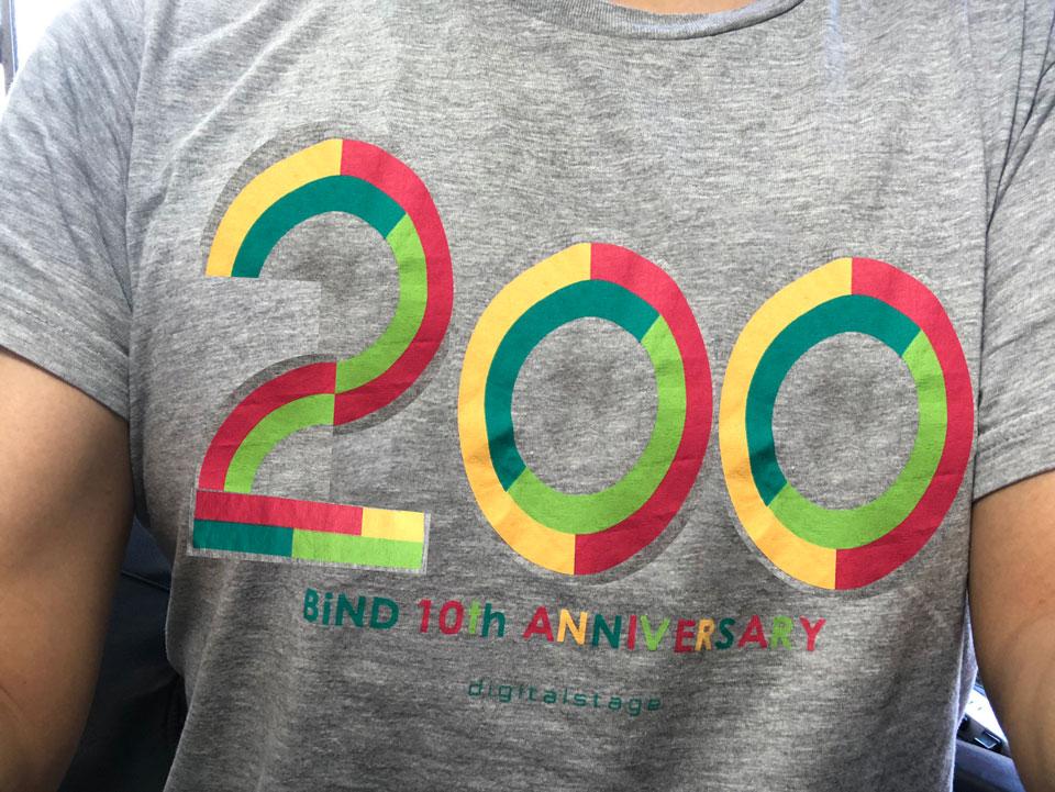 コラ感満載(笑)の200mTシャツ