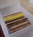 CDの減量 棚と箱 1