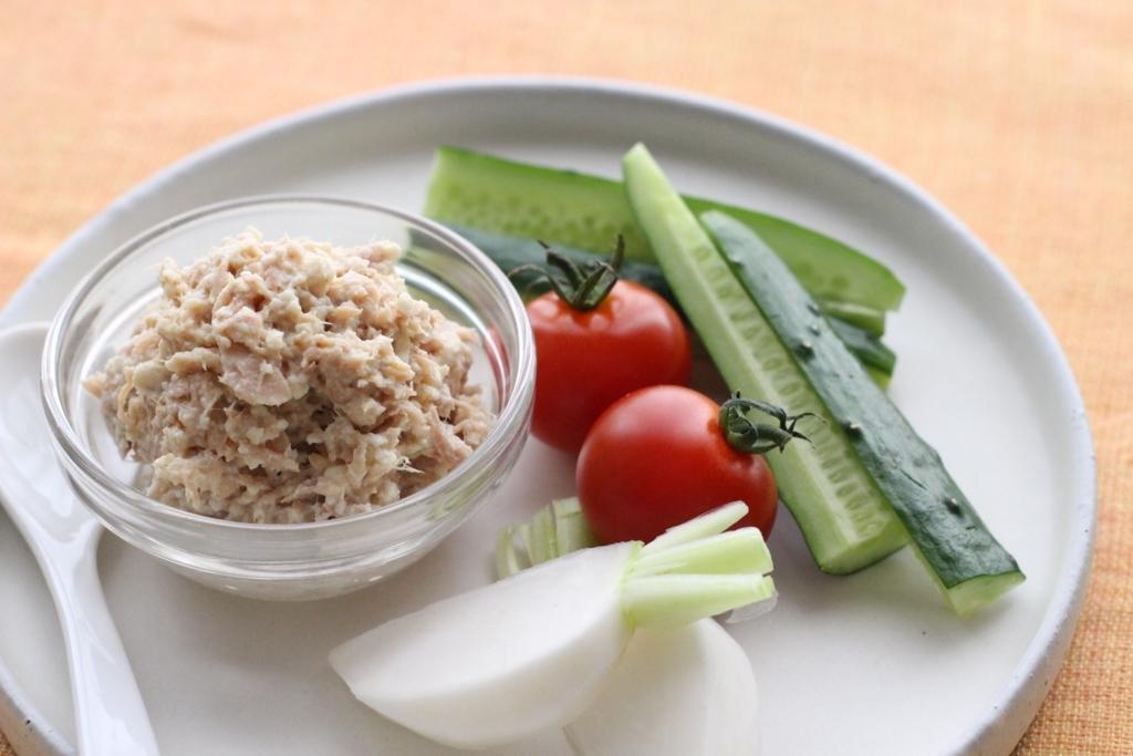 野菜がたっぷり食べられる!ツナと豆腐のディップ