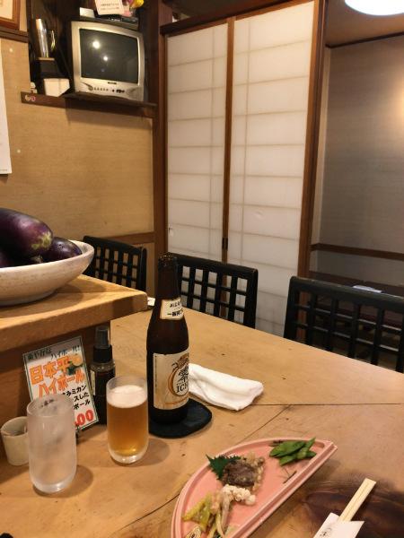 ぽん吉佐野さんと増田さんが座られたカウンター奥の席
