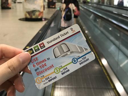 シンガポール地下鉄 スタンダードチケット