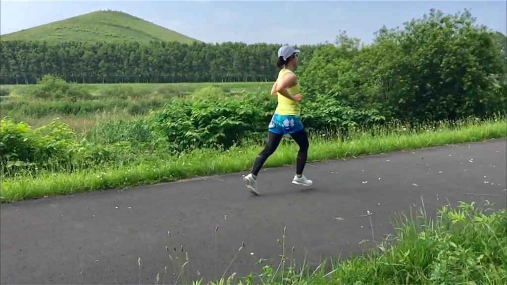 公園一周6km×4をレースペースで走るちょここ
