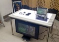 展示会デスクLEDライトパネル、小型AVシアター付
