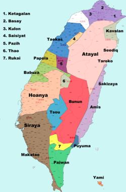 台湾民族地図