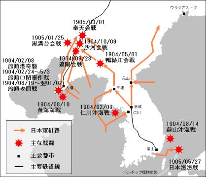 日露戦争地図