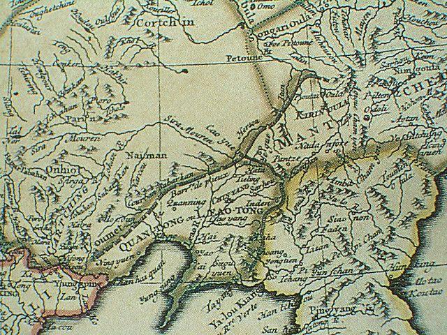 1734満州地図