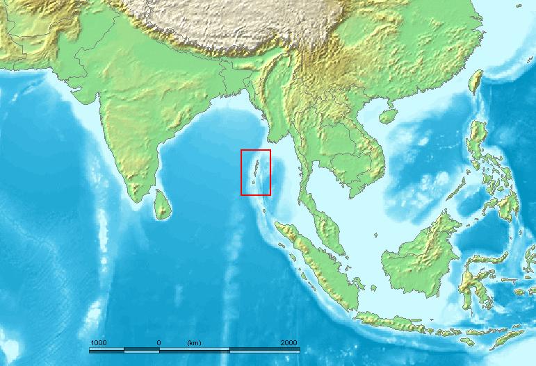 アンダマン諸島を示す地図