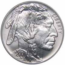 1 Dollar – American Buffalo 2001 – 1 Unze Silbermünze