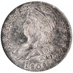Schubladenverkauf in Manila eines Capped Bust Half Dollar von 1808