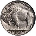 Denver Fehlprägung des Buffalo Nickel aus dem Jahr 1937