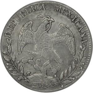 Mexikanische 8 Reales Münze aus dem Jahr 1849