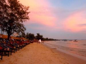 Sihanouk Strand Sonnenuntergang