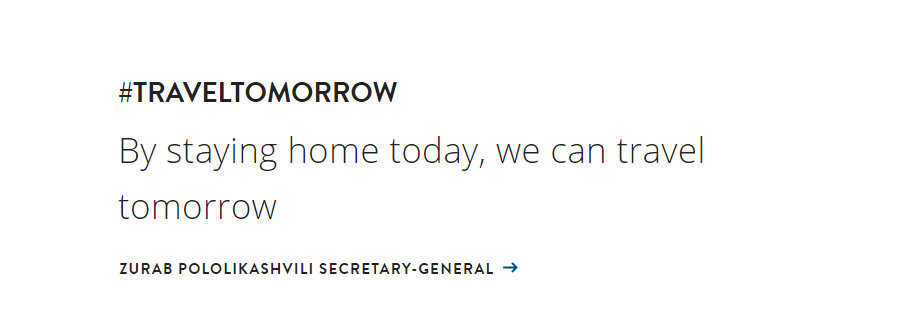 #TRAVELTOMORROW By staying home today, we can travel tomorrow
