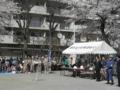 平沢勝栄|亀有北口(4町会)合同防災訓練で挨拶|2012年4月8日