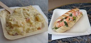 レミーのおいしいレストラン ザ・アドベンチャー付近で食べたグラタンとサンドイッチ