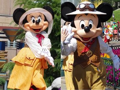 ジャングルブックジャイブのミッキーマウスとミニーマウス