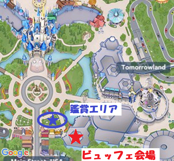 Fireworks Dessert Party Plaza Garden Viewingの鑑賞エリア