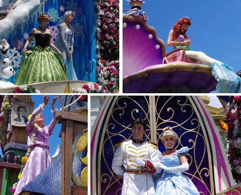 ディズニーフェスティバルオブファンタジーパレードのプリンセス