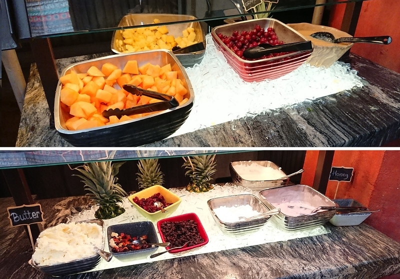 タスカーハウスレストランのフルーツ