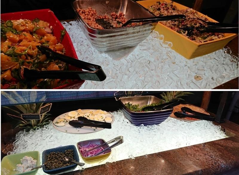 タスカーハウスレストランのサラダ