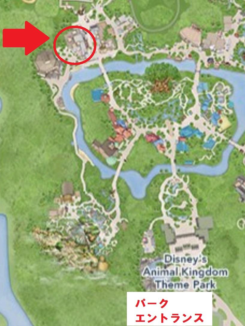 タスカーハウスの地図