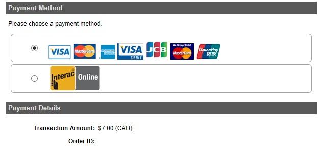 カナダ電子渡航認証eTAの支払い
