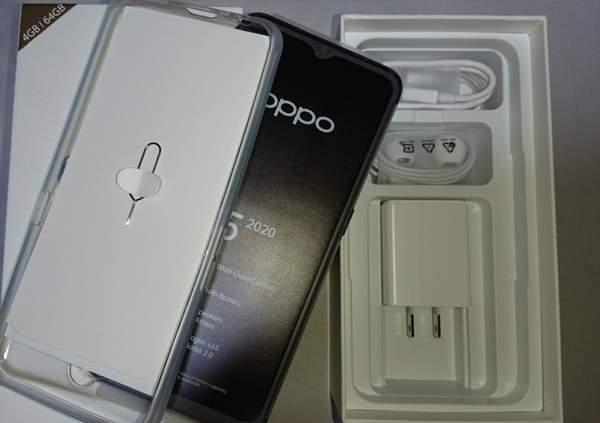 OPPO A5の付属品