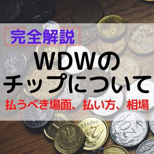 WDWのチップの払い方について