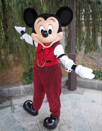 ディズニーランドパリのミッキー