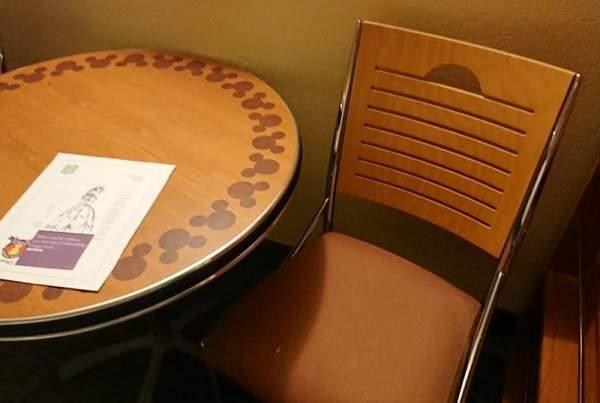 オールスターリゾートの部屋の机