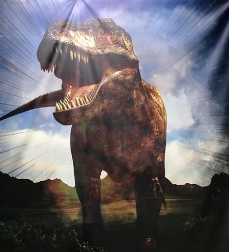 リアル恐竜ごっこ記念写真