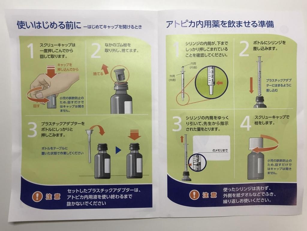 アトピカ内用液の使い方