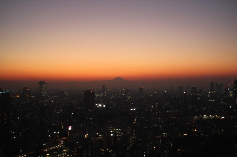 東京タワーから見た富士山