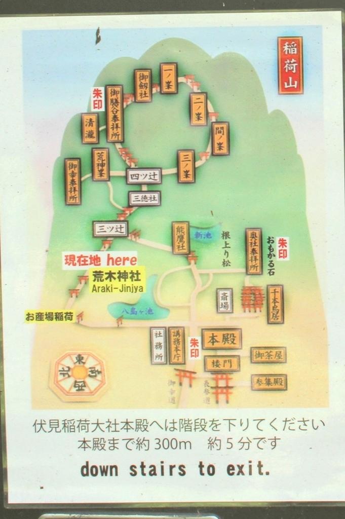 伏見稲荷山『荒木神社』地図