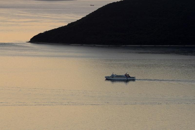 屋島の夕日