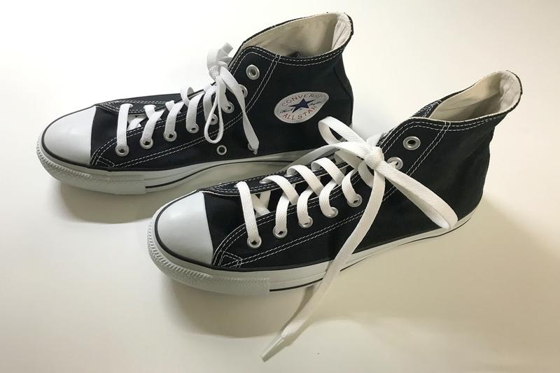 コンバース・オールスターのハイカットには『伸びる靴ひも120cm』がピッタリ