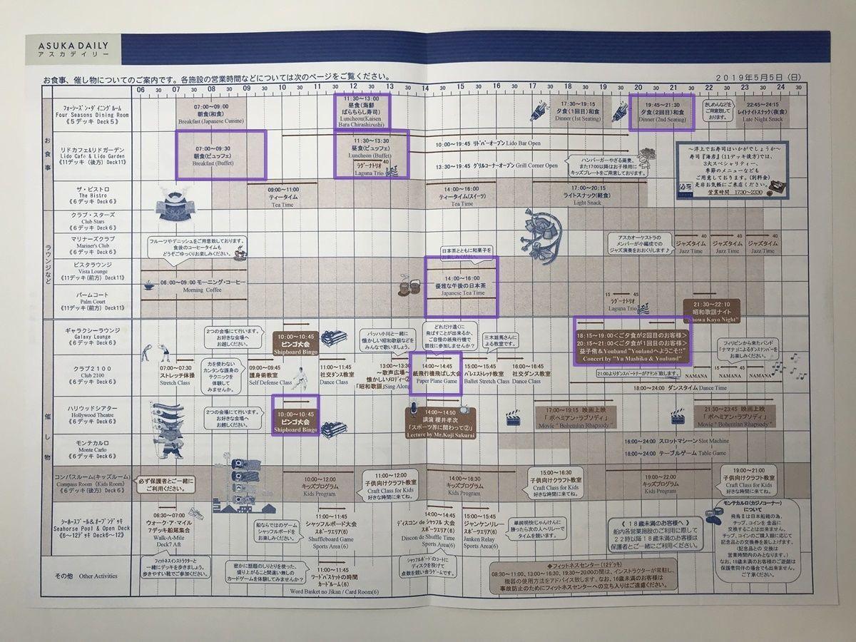 【飛鳥Ⅱ 乗船記⑬乗船10日目】2019年ゴールデンウィーク サイパン・グアムクルーズ 10泊11日 アスカデイリー