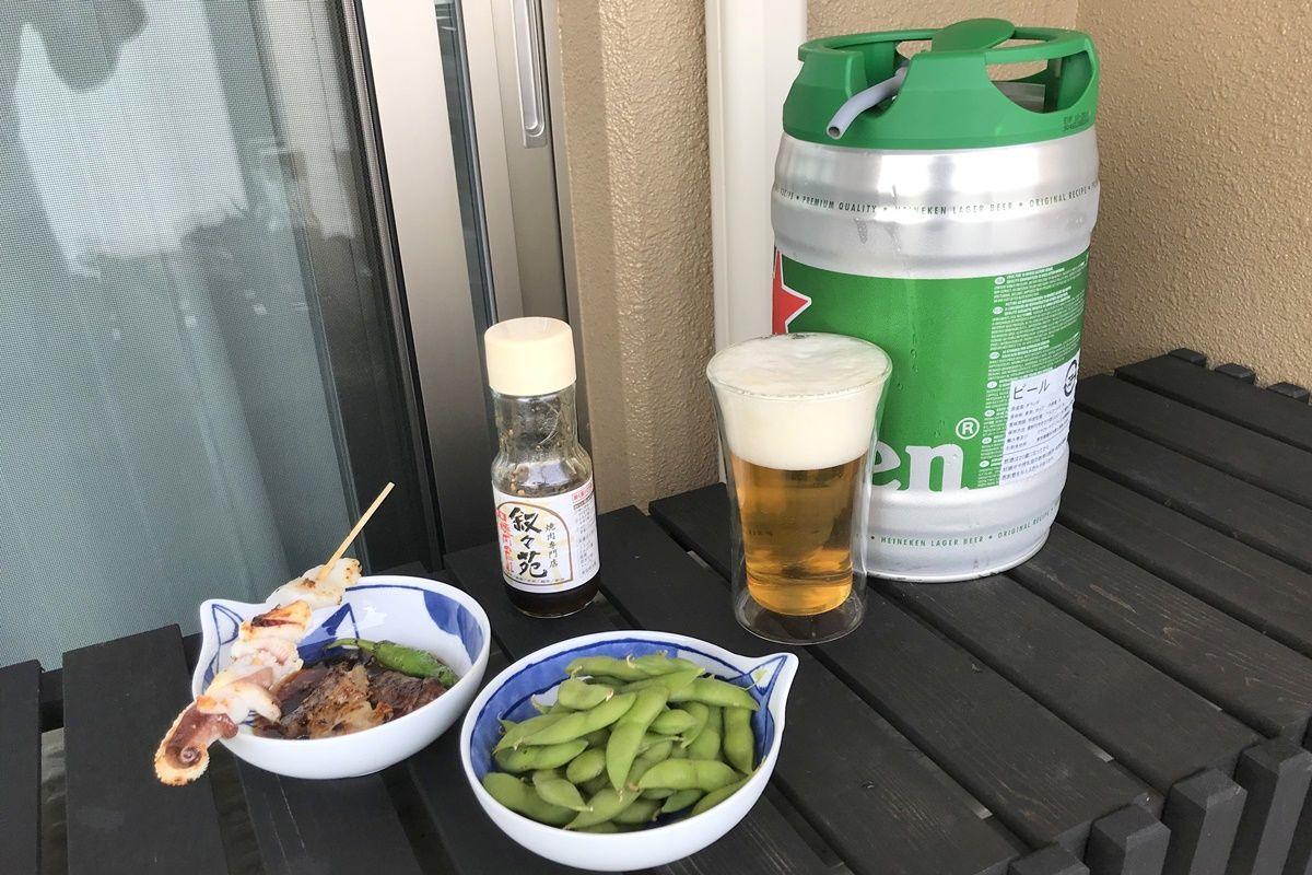 自宅で樽生ビールを楽しめる!ハイネケンのビールサーバー・ドラフトケグを購入