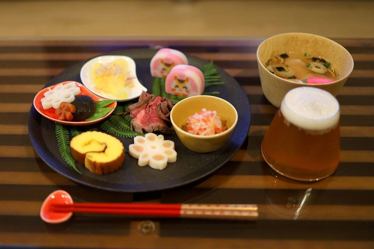 【献立・お正月】ワンプレートおせち+松茸の味お雑煮