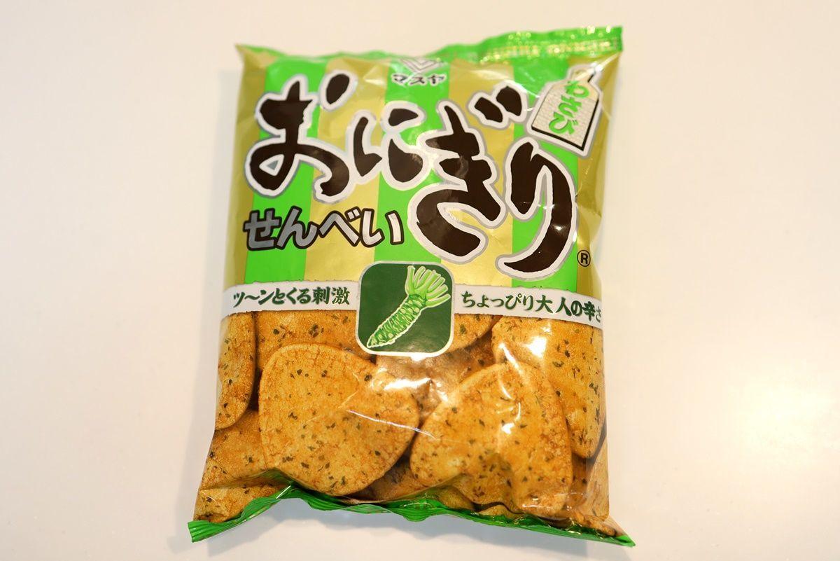 西日本限定?のお菓子を食べ比べました!おにぎりせんべい・満月ポン・ぼんち揚
