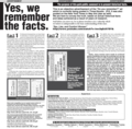 歴史事実委員会のデマ広告Yes, We remember the facts.