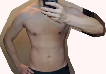 増量前の体型