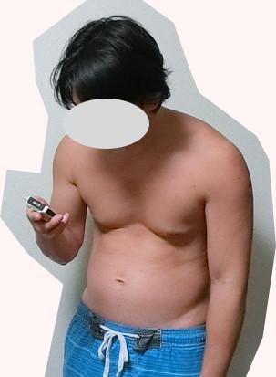 増量後の体型