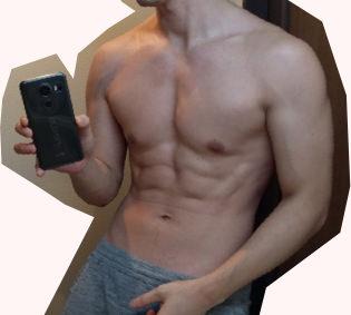 減量後の体型