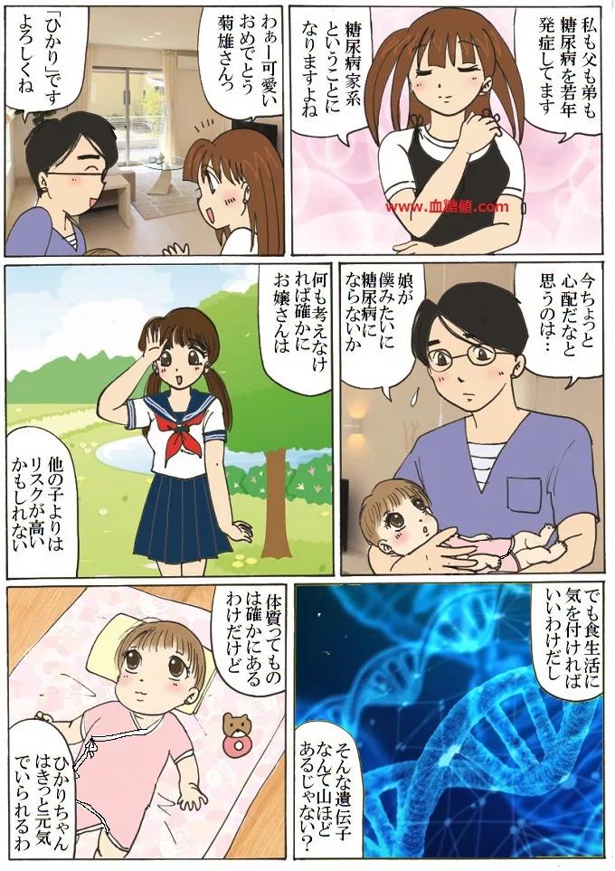 娘への糖尿病遺伝を心配する父親