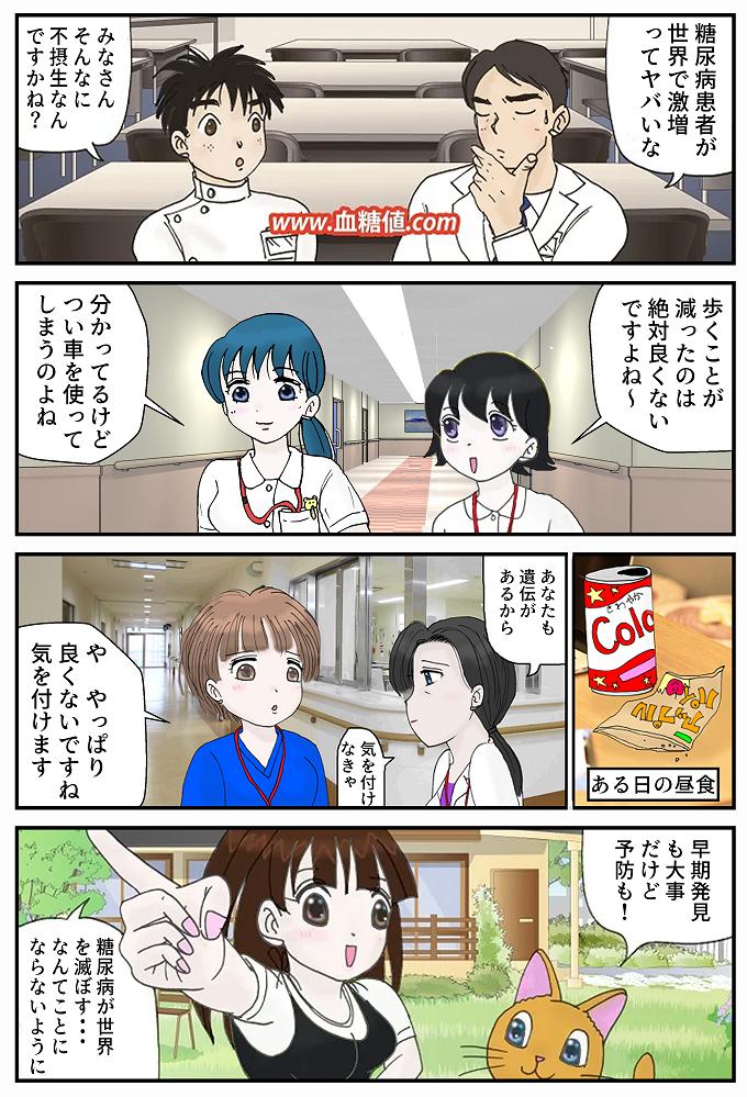 糖尿病予防啓発マンガ