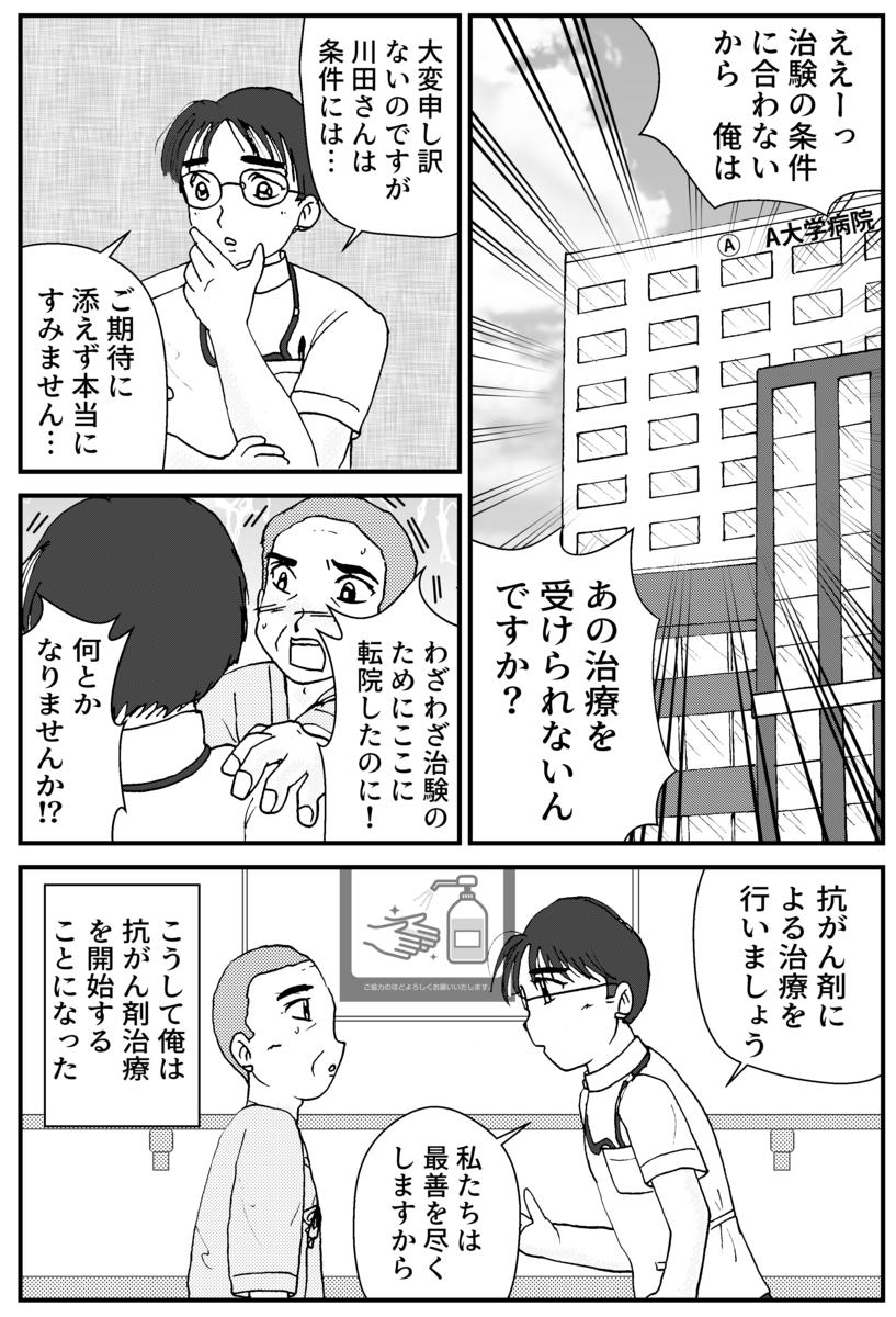 すい臓がんの漫画3P